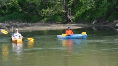 Kayakers on Maquoketa River in Manchester