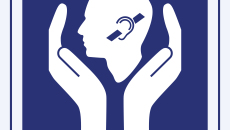Hearing impairment care sign vector