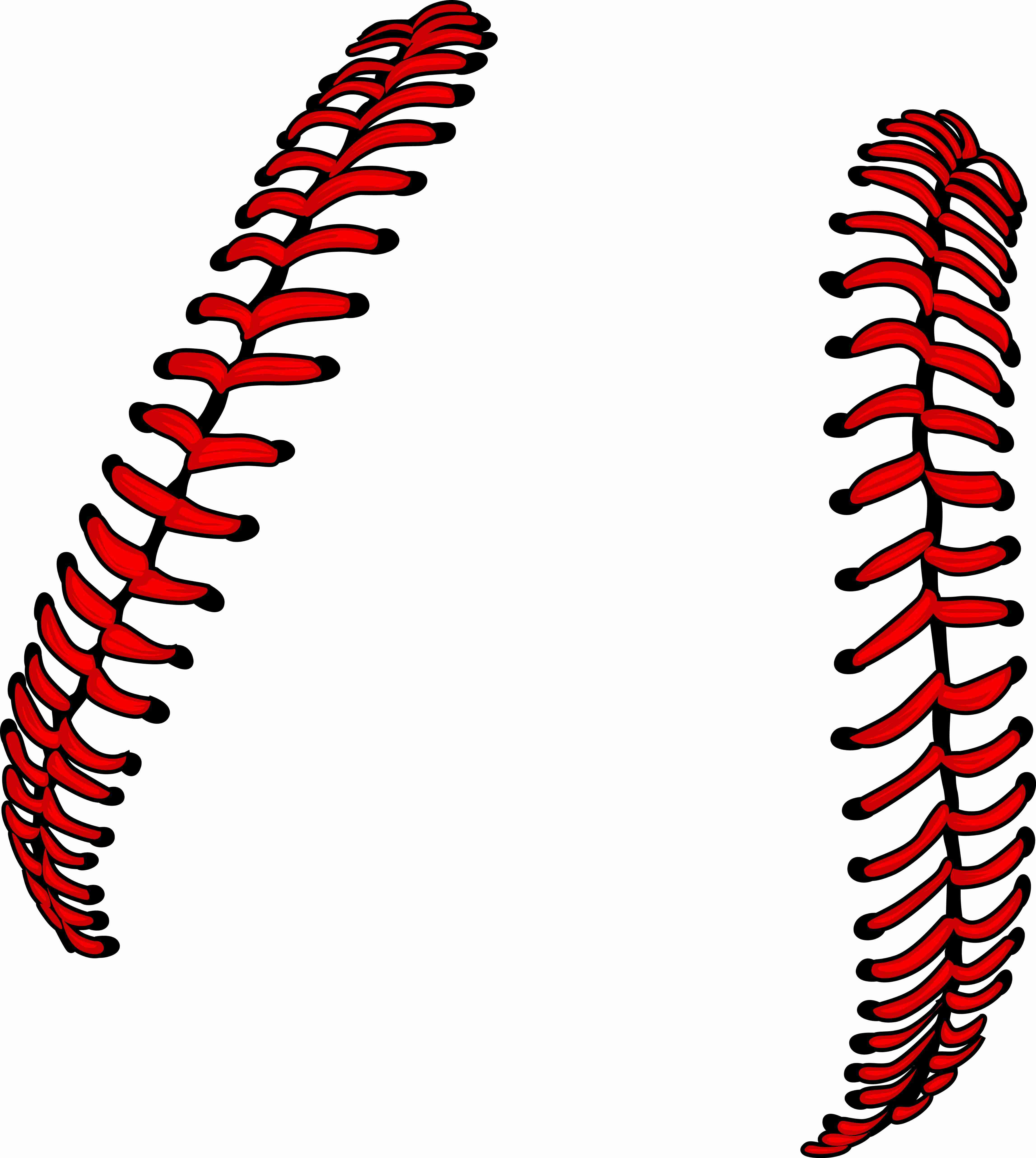 Softball Laces or Baseball Laces Vector Illustration