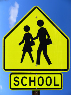 Slow School Zone Sign