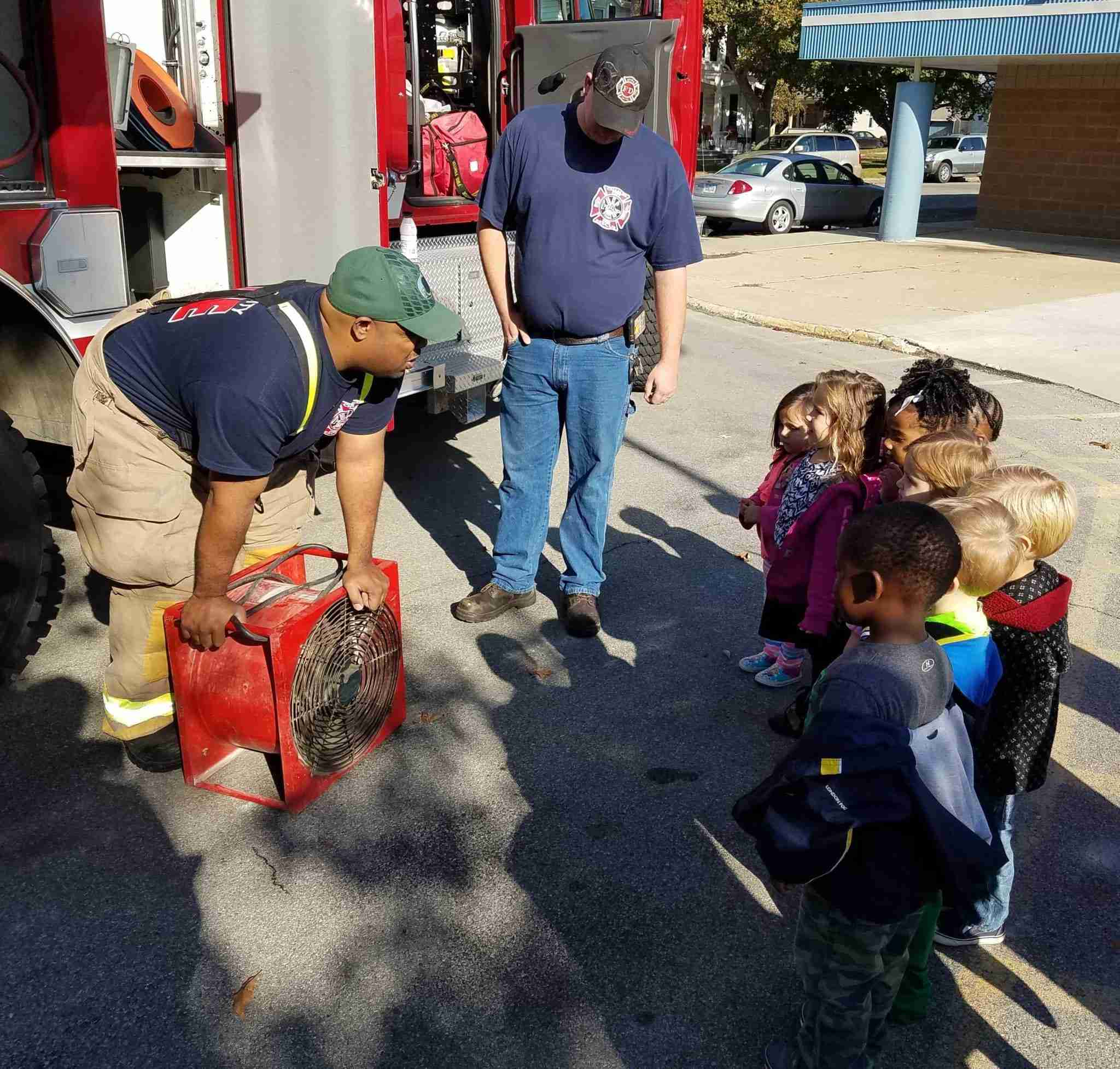 TLC students learn fire safety on Tuesday 10/10/16