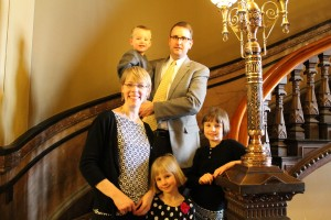 Representative Todd Prichard was happy to have his family, wife Ann, daughters Katie and Emma and son Owen at the Capitol this week during spring break.