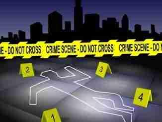 Crime scene in a city