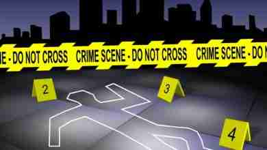 Crime scene in a city