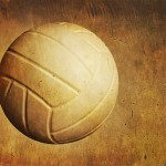 A Volleyball On A Grunge Textured Background