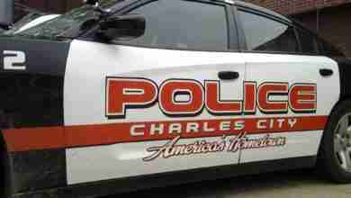 Photo of Charles City Police Department statement on gunfire in town on Saturday