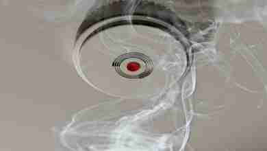 Smoke Alarm In A Smoky Room