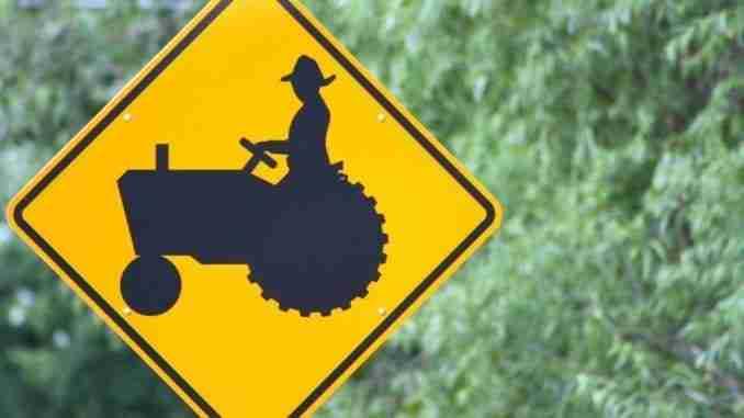Farming Road Sign