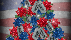 Military Dog Tag Christmas Tree