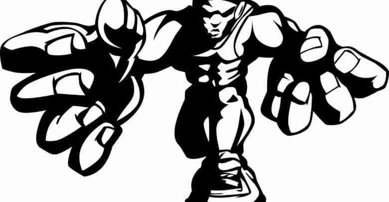 Wrestler Cartoon Vector Image