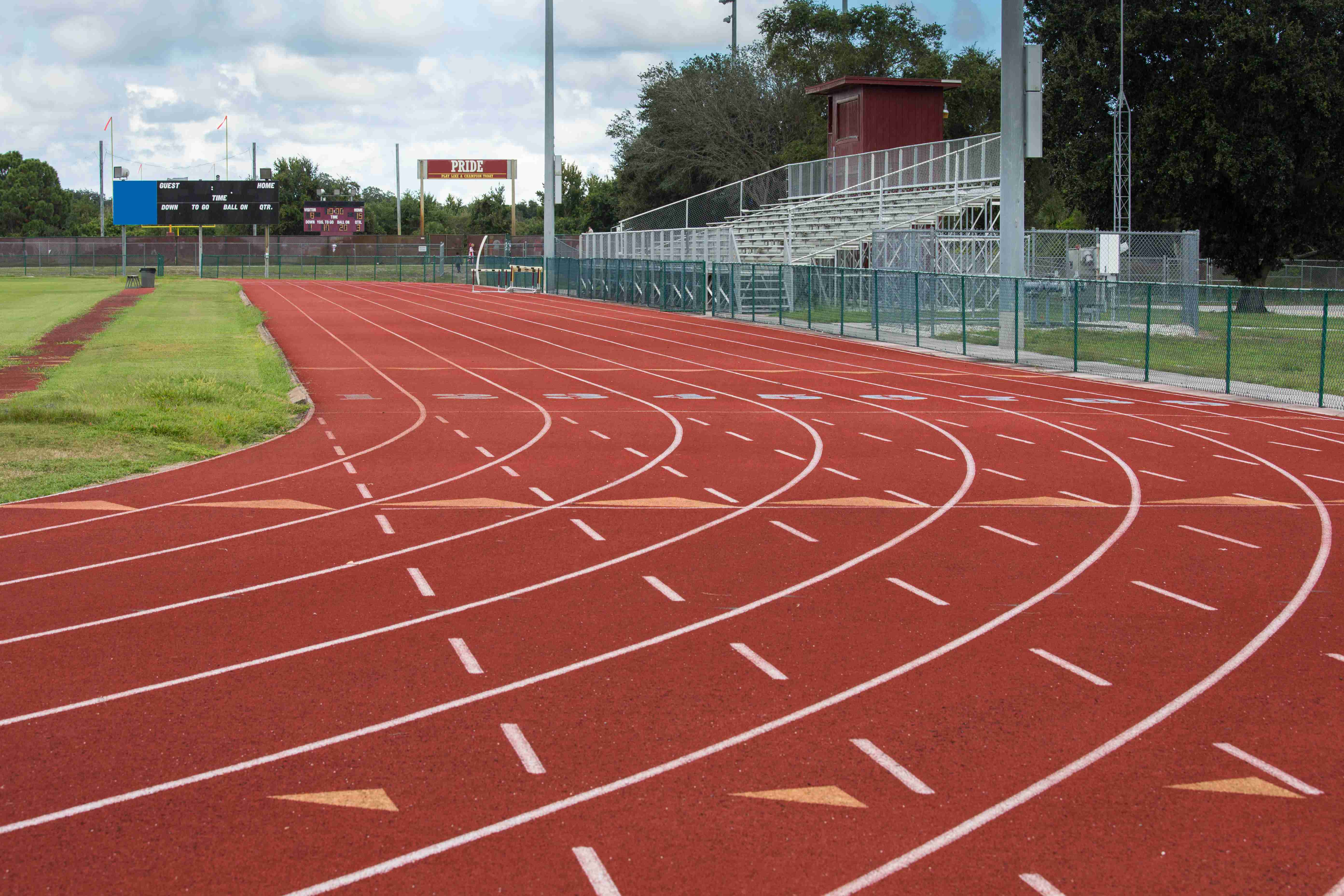 This track and field facility is a symbol of the importance of sports and athletics as an instrument in preparing students for the future.