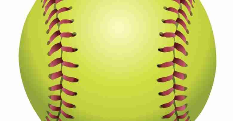Softball Isolated On White Illustration