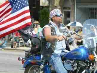 NEW YORK – MAY 29:  Motorcycle parade goers participate in the L