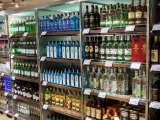 OSLO GARDERMOEN NORWAY – NOVEMBER 3:Alcohols in Duty Free Shop a
