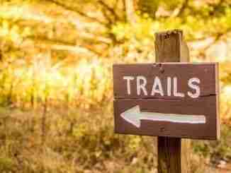 Trails Sign For Hiking