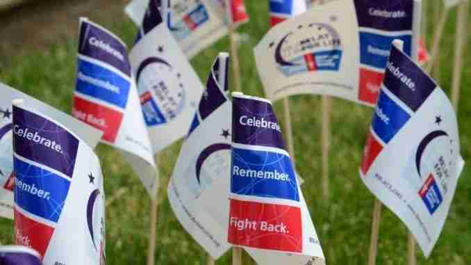 Flags At Relay For Life Of Ann Arbor Event