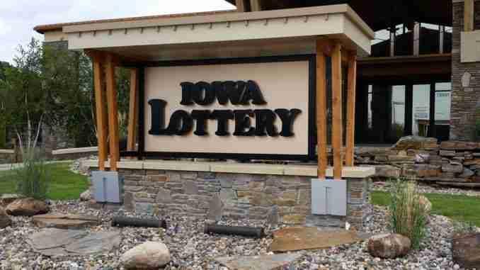Iowa Lottery Sign
