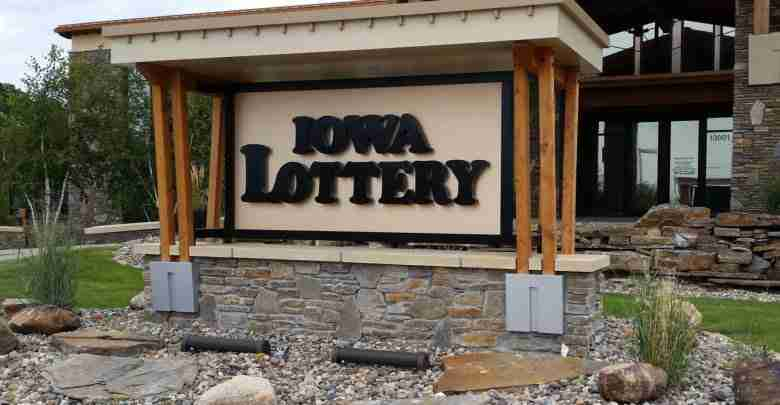 Iowa Lottery Sign
