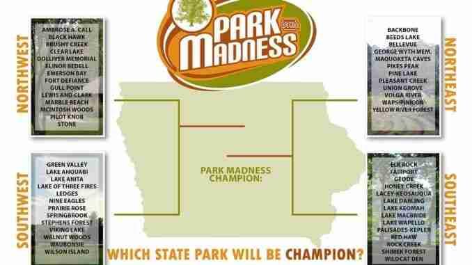 Iowa dnr launches park madness win free camping kcha news iowa dnr park madnes 2016 publicscrutiny Images