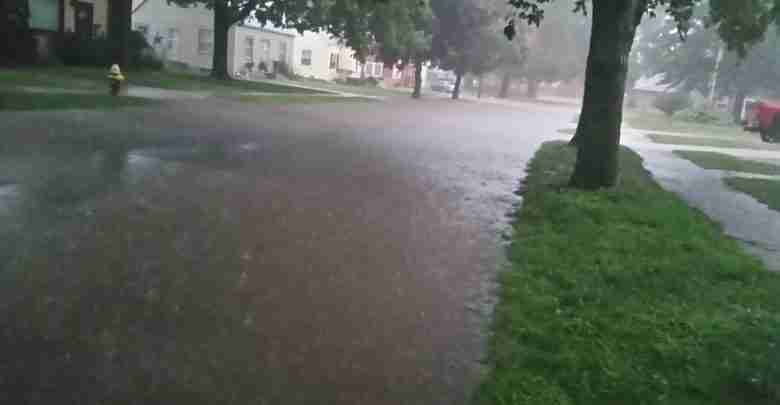 Residential flooding in Charles City 8/24/16