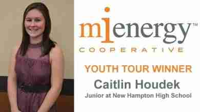 Photo of New Hampton Student Named MiEnergy Youth Tour Winner