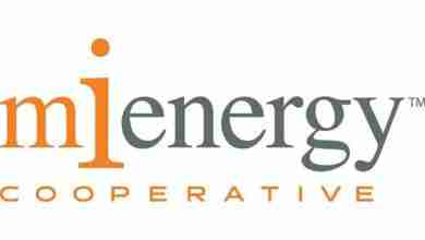 Photo of MiEnergy Cooperative members give $5,250 locally