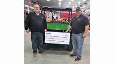 Photo of Greene Fire Department receives donation for new gator