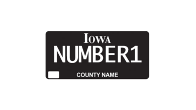 Photo of Iowa Blackout plate becomes most popular specialty plate