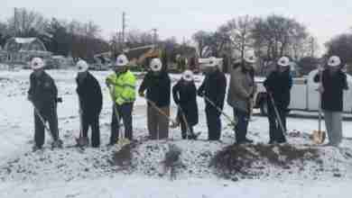Photo of Floyd County law enforcement center gold-shovel groundbreaking