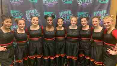Photo of Charles City High School Pom Squad receives division 1 honors at state competition