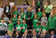 Photo of Osage schools commit to computer science; Gov. Reynolds thanks them personally