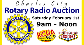 Charles City Rotary Radio Auction - Sat. Feb. 1st - 9am to noon