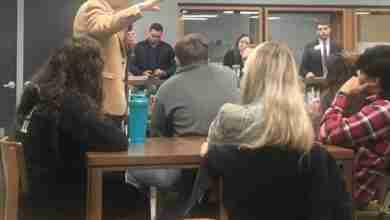 Photo of Senator Grassley visits Charles City High School; talks Democratic favorite; environment; Tump impeachment trial