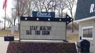 Photo of Dave's Restaurant in Charles City gets new owner; 2 days later closes for 2 weeks because of virus