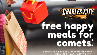 Photo of 'Free happy meals for Comets' April 14th