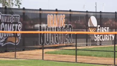 Photo of Charles City school's 'Orange Monster' new calling-card for Comet baseball