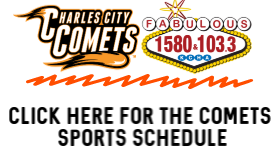 Charles City Comets on 1580am & 103.3fm